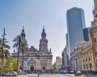Metropolitaanse Kathedraal van Santiago Stock Foto