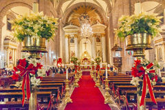 Metropolitaanse Kathedraalkerstmis Eve Service Mexico City Mexico stock afbeelding