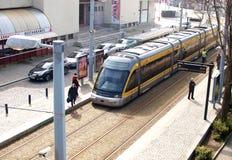 Metropolitaanse metro op Portugese stad Matosinhos Royalty-vrije Stock Afbeelding