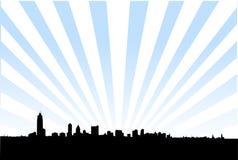 Metropolitaanse stadshorizon vector illustratie