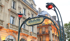 Metropolitain entrance sighn in Paris Stock Images