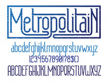 Metropolitain font. Minimalistic typeface Royalty Free Stock Photography