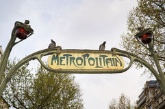 Metropolitain in Paris Royalty Free Stock Image