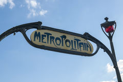 Metropolitain sign Stock Image