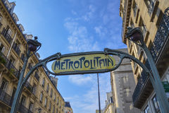 Metropolitain sign, Paris Stock Photography