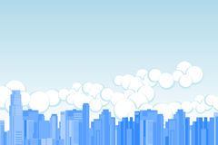 Metropolitan. City skyline vector illustration