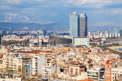 Metropolitan area in cloudy day. Barcelona Stock Photos