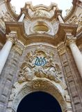 The Metropolitan Cathedral–Basilica of the Assumption of Our Lady of Valencia Valencia Cathedral. Stock Photography