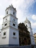 Metropolitan Cathedral. Located in Plaza de la Independencia in the historic Casco Viejo district of Panama City. Casco Viejo was designated a World Heritage Stock Photo