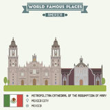 Metropolitan Cathedral of Assumption of Mary. Mexico Royalty Free Stock Photos