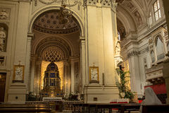 Metropolitan Cathedral of the Assumption of Virgin Mary in Palermo. Sicily, Italy. Royalty Free Stock Photo