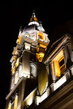 Metropolitan Cathedral Basilica of Saint Catherine of Alexandria in Cartagena de Indias at night Stock Images