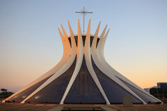 Metropolitan Cathedral in Brasilia, Brazil Royalty Free Stock Photo