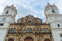 Metropolitan Cathedral Casco Viejo, Panama city. Panama City, Panama - January 2, 2014: Metropolitan Cathedral by day, located on Plaza de la Independencia in Stock Images