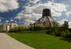 Metropolitan Cathedral of Christ The King Liverpool Merseyside. Back view Stock Photography