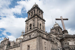 Metropolitan Cathedral, Mexico City Stock Photos