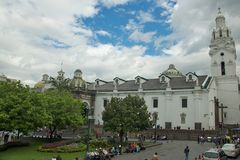 The Metropolitan Cathedral of Quito Stock Image