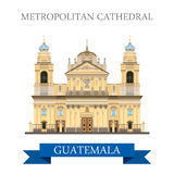 Metropolitan Cathedral of Saint James in Guatemala flat vector Stock Photo