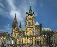 The Metropolitan Cathedral of Saints Vitus or St. Vitus Cathedra in Prague stock photos