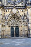 Part of St. Vitus Cathedral. The Metropolitan Cathedral of Saints Vitus, Wenceslaus and Adalbert is a Roman Catholic metropolitan cathedral in Prague or St Royalty Free Stock Photos