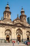 Metropolitan Cathedral of Santiago Stock Images