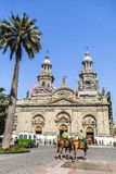 The Metropolitan Cathedral of Santiago, Chili Royalty Free Stock Images