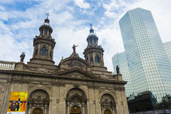 Metropolitan Cathedral in Santiago de Chile Royalty Free Stock Image