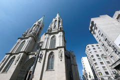 Metropolitan Cathedral or Se Cathedral in sao paulo, brazil Stock Photo