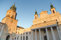 The Metropolitan Cathedral of St. John the Baptist and the Evangelist in Lublin, Poland. Stock Photography