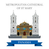 Metropolitan Cathedral of St Mary Panama vector flat attraction Stock Photos