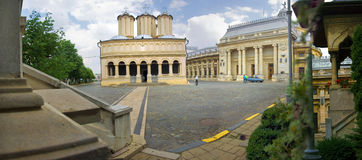 The Metropolitan Church. Panoramic view of Metropolitan Church patio Stock Photos