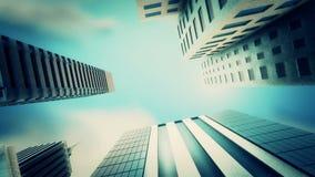Metropolitan city loop animation stock footage