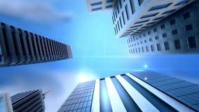 Metropolitan city loop animation stock video