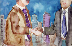 Metropolitan handshake Royalty Free Stock Photography