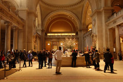 Metropolitan Museum of Art. The Great Hall, the main entry of the Metropolitan Museum of Art, in New York Royalty Free Stock Image
