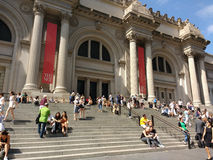 The Metropolitan Museum of Art, the Met, New York City, USA. The main entrance of the Metropolitan Museum of Art, colloquially known as the Met. Located on 5th Royalty Free Stock Photography