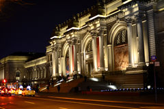 The Metropolitan Museum of Art - New York City. As seen at night - The Metropolitan Museum of Art also known as The MET on the Upper East Side of Manhattan Royalty Free Stock Images