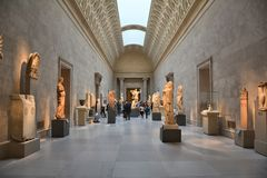 Metropolitan Museum of Art, NYC. NEW YORK CITY - OCTOBER 22, 2014: Exhibition of Greek Art at Metropolitan Museum of Art. The Met is the largest art museum in Stock Photo