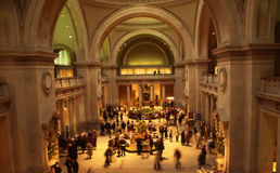 Metropolitan museum in nyc. Reception area of the met in nyc Stock Photography