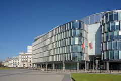 The Metropolitan Office Building in Warsaw, royalty free stock photo