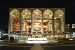 Metropolitan Opera House. Is adjacent to Avery Fisher Hall in the Lincoln Center for the Performing Arts complex in New York City.  is a 3,900-seat opera house Royalty Free Stock Photos