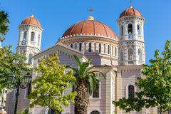 Metropolitan Orthodox Temple of Saint Gregory Palamas in Thessaloniki, Greece.  Royalty Free Stock Images