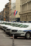 Metropolitan police cars on streets. Of zagreb, croatia Stock Photography