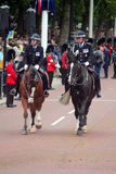 The metropolitan police commissioner. Mounted police during trooping the colour London England royalty free stock images