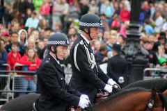 The metropolitan police commissioner. Mounted police during trooping the colour London England stock image