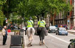 Metropolitan police on horses, London Royalty Free Stock Images