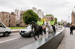 Metropolitan police on horses, London Royalty Free Stock Image