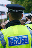 Metropolitan Police Officer. On duty in London Royalty Free Stock Photos