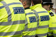 Metropolitan Police. After recent terrorist attacks in central London, the Metropolitan Police are on full alert royalty free stock image