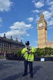 Metropolitan Police Service officer gurad on duty the Big Ben cl Stock Image